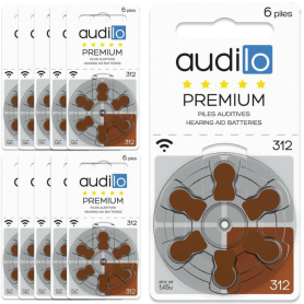Piles Auditives Audilo Premium 312 lot de 10