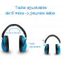 protection auditive casque pour enfants feux d'artifices